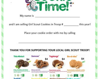 Girl Scout Cookie Flyer 2018