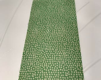LARGE Reusable Cotton Beeswax Food Wrap Green Spotty Dots Random 30cm x 30cm Plastic Free Eco friendly