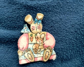 Handmade Bunny Pin