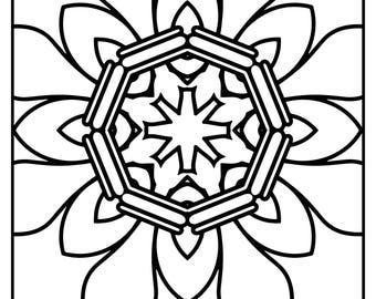 Wackadoodle Square Mandala #32