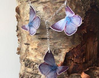 Chalk Hill Blue Butterfly Necklace
