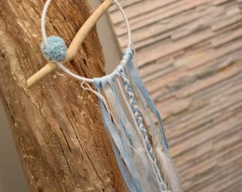 Dream catcher blue, white and wood