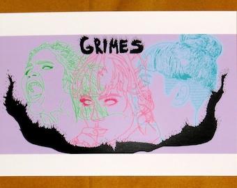 Grimes Trio A4 Print