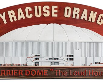 Custom-made 3D Wooden Replica - Syracuse Orange Carrier Dome