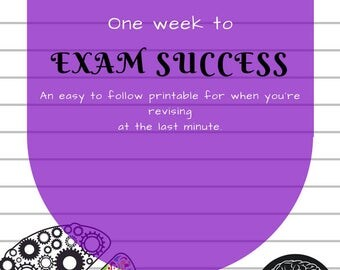 One-week study printables for last-minute revision