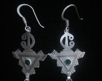 Silver jewelry Berber amazigh earrings
