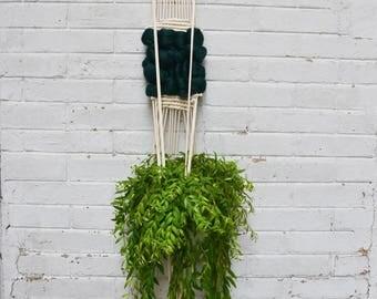 Hanging green wool