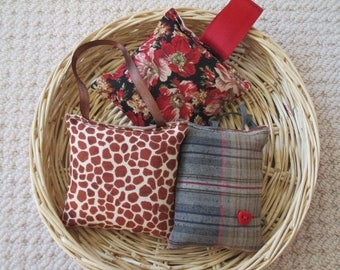 Lavender Sachet Trio - Red Hot