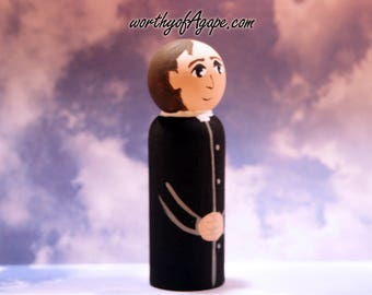 Saint John Bosco - Wooden Saint, Confirmation Baptism Gift, Patron Saint
