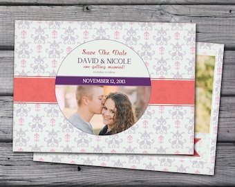 Save the Date Announcement, Save the Date Magnet, Save the Date Postcard, Ribbon Save the Date Announcement