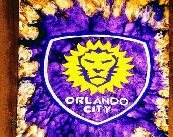 Orlando City Customized Melted Crayon Art