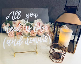 Love and Donuts Wedding Sign