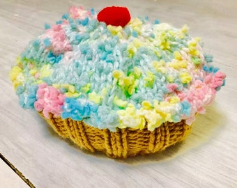 Vintage Crocheted Cupcake Hat
