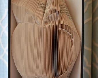 apple Folded book art