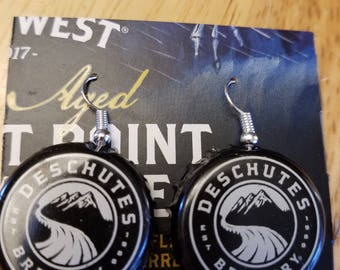 Deschutes Brewery Bottle Cap Earrings