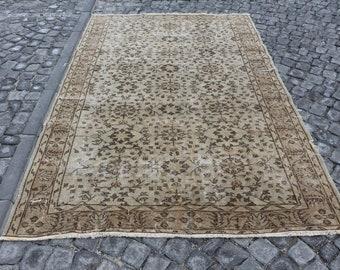 Free Shipping anatolian organic wool area rug handknotted turkish rug 5.4 x 8.7 ft. aztec rug bohemian floor rug, decorative floor rug,MB462