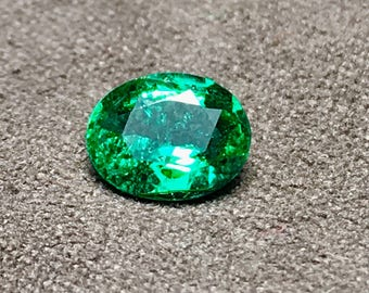 0.65 Carate Very Beautiful Faceted Emerald From Ethopia With Beautiful Color and Luster.