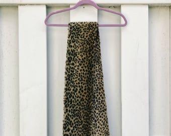 Faux Leopard Scarf