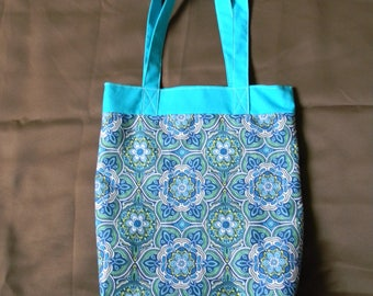 Blue Starburst Tote Bag