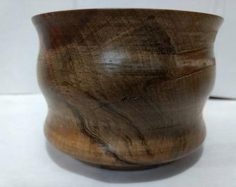 Ambrosia maple bowl, hand turned