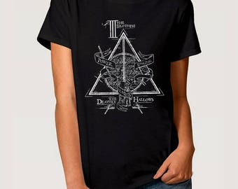 Deathly Hallows Art T-Shirt, Harry Potter Tee, All Sizes