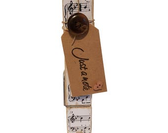 Just A Note Music Piano Decorative Peg Clothespin Memo Note Photo Holder Magnetic