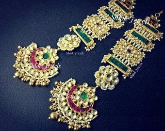 Kundan jadau Earrings (can be converted into tika)