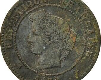 france cérès 5 centimes 1872 paris vf(30-35) bronze km821.1