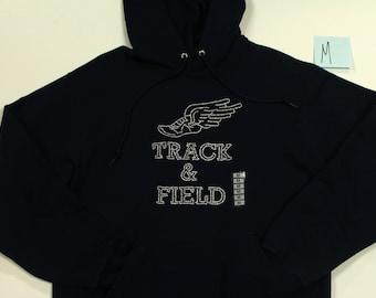 Track and Field Hoodie Sweatshirt Size M