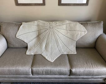 Cream-colored Star Afghan