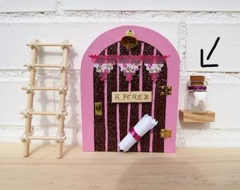 TOOTH FAIRY DOOR. Pink. Wood. Magic Door.