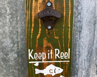 Fisherman Rustic Bottle Opener