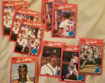 Ten 1990 Donruss rookie cards