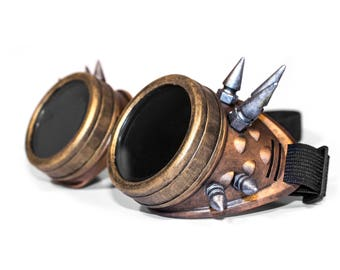 Steampunk Goggles with Spikes for Cosplay / LARP