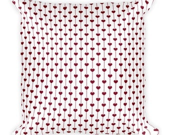 Small hearts,Square Pillow, Cover with stuffing,USA, Printful