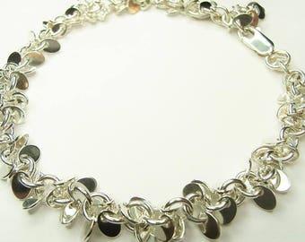 Solid Silver Petal Bracelet