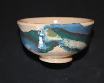 Ceramic tea cup 10 Mokume gane