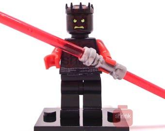 Custom DARTH MAUL  Inspired Minifig Lego Star Wars Phantom Menace