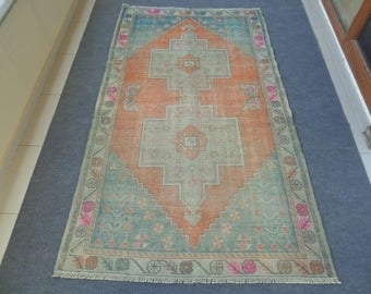 Vintage Turkish Rug, Turkish Rug, Bohemian Rug, Tribal Rug, Anatolian Nomadic Rug, Distressed Rug