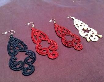 Embroidery earrings