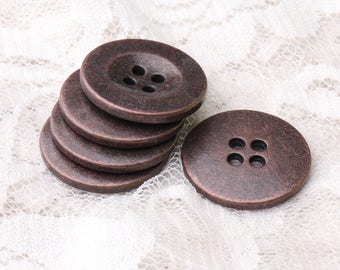 shirt buttons 20mm 10pcs 4 holes sewing buttons metal buttons round copper buttons