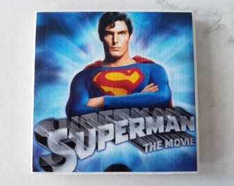 Superman (1978) Movie Ceramic Tile Coaster