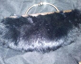 Fun faux fur evening bag