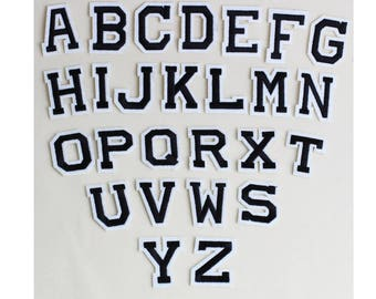 black letters patch,iron on patch,alphabet patches,letters badges,appliques,sew on badges,patches,embroidery patch