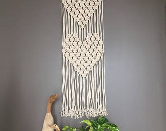 Modern Macrame/ macrame wall hanging/Wall art/ tapestry/wedding decor/love/outdoor & Living/Macrame/playroom decor/gift/valentines