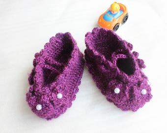 Crochet baby shoes,crochet baby sandals,baby shoes,girl shoes,girl sandals, baby shoes with Pearls