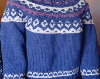 Blue Norwegian sweater