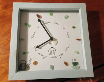 Seaglass clock, Always time for tea!