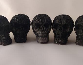 Skulls black wax