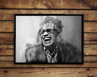 Ray Charles print wall art home decor poster